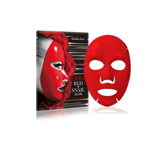 Маска с муцином улитки и экстрактами 8 красных растений Double Dare OMG! Red + Snail Mask