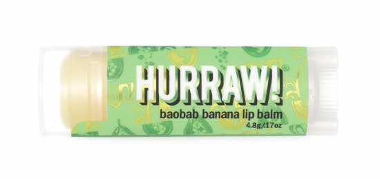 Бальзам для губ Hurraw! Baobab Banana Lip Balm