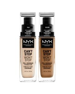 Стойкая тональная основа NYX Can`t Stop Won`t Stop Full Coverage Foundation