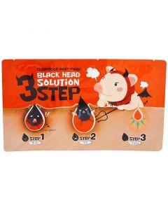 Набор 3 шага для удаления черных точек Elizavecca Milky Piggy Black Head Solution 3 Step
