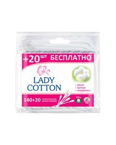 Ватные палочки Lady Cotton 140+20 шт.
