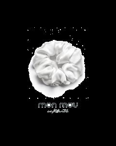Шелковая резинка в новогоднем шаре объемная MON MOU (Белый)