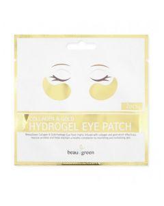 Гидрогелевые патчи среднего размера Beauugreen Collagen & Gold Hydrogel Eye patch
