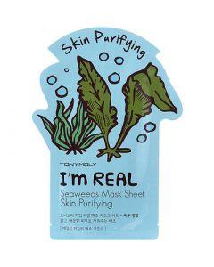 Тканевая маска для лица с экстрактом морских водорослей TONY MOLY I'm Real Seaweeds Mask Sheet Skin Purifying