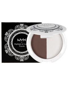 Хайлайтер и пудра для контурирования NYX Highlight & Contour Powder