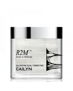 Шелковые двусторонние подушечки с тонером для очищения лица Cailyn R2M SILK REFINE DUAL TONER PAD