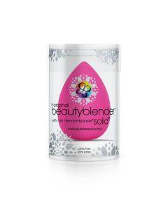 Спонж Beautyblender original + мини мыло для очистки Solid Blendercleanser