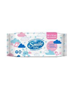 Детские влажные салфетки с рисовым молочком Smile Baby
