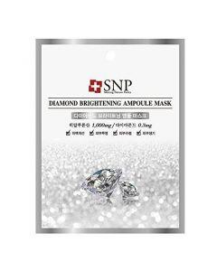 Осветляющая маска на основе алмазного порошка SNP Diamond Brightening Ampoule Mask