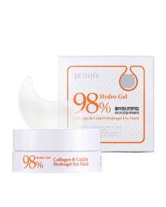 Гидрогелевые патчи для глаз с коллагеном и коэнзимом Petitfee&Koelf Collagen & Co Q10 Hydrogel Eye Patch