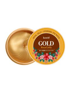 Гидрогелевые патчи для кожи вокруг глаз с золотом и маточным молочком KOELF Gold Royal Jelly Eye Patch