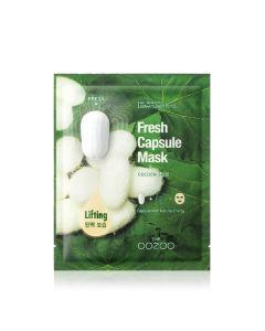 Маска с капсулой-активатором с экстрактом шелка для лифтинга и увлажнения THE OOZOO Fresh Capsule Mask Cocoon Silk