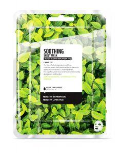 "Тканевая маска ""Зеленый чай - Успокаивающий"" Superfood for Skin Green Tea Soothing Sheet Mask"