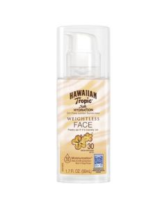 Солнцезащитный крем для лица SPF 30 Hawaiian Tropic Silk Hydration Face Oil Free Lotion Sunscreen