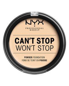 Матирующая крем-пудра NYX Can`t Stop Won`t Stop Powder Foundation