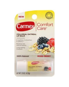 Бальзам для губ в стике Carmex Comfort Care Colloidal Oatmeal Lip Balm Mixed Berry Stick