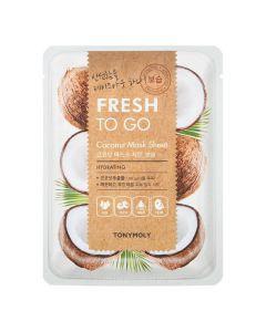 Тканевая маска с маслом кокоса для увлажнения кожи Tony Moly Fresh To Go Mask Sheet Coconut