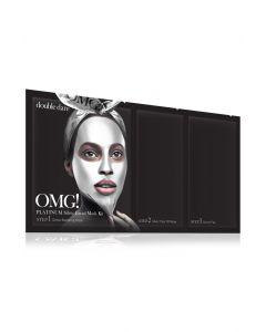 Комплекс масок трёхкомпонентный «Активный лифтинг и восстановление» Double Dare OMG! Platinum SILVER Facial Mask Kit