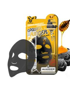 Тканевая маска с древесным углем и медом Elizavecca Black Charcoal Honey Deep Power Ringer Mask Pack