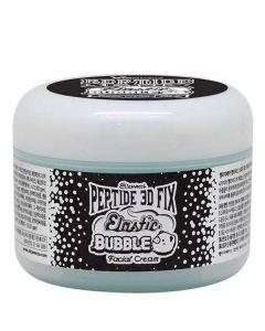 Омолаживающий пузырьковый крем для лица Elizavecca Peptide 3D Fix Elastic Bubble Facial Cream