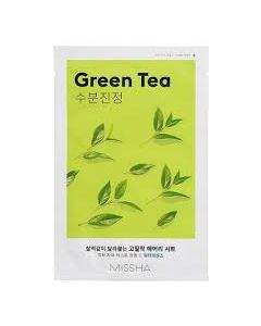 Маска для лица с экстрактом зеленого чая Missha Airy Fit Sheet Mask Green Tea