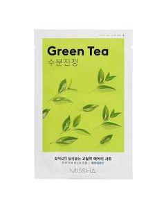 Маска для лица с экстрактом зеленого чая Missha Airy Fit Sheet Mask Green Tea