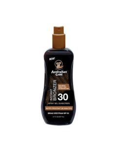 Спрей-гель для загара с бронзатором Australian Gold Spray Gel Sunscreen with Instant Bronzer SPF 30