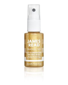 Мерцающий спрей для тела с эффектом автозагара James Read H2O Illuminating Body Mist Travel-Size