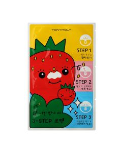 Патчи от черных точек TONY MOLY Runaway Strawberry Seeds 3-Step Nose Pack