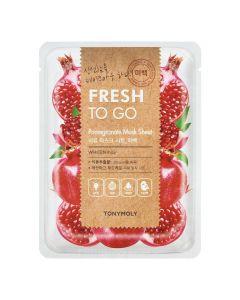 Тканевая маска для эластичности кожи с гранатом Tony Moly Fresh To Go Mask Sheet Pomegranate