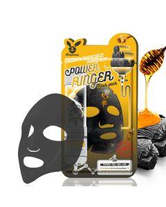 Очищающая питательная маска с древесным углем и медом Elizavecca Black Charcoal Honey Deep Power Ringer Mask Pack