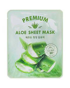 Успокаивающая маска для лица с экстрактом алоэ Missha Premium Aloe Sheet Mask