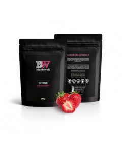 Натуральный органический скраб на основе кофе Blackwell Strawberry