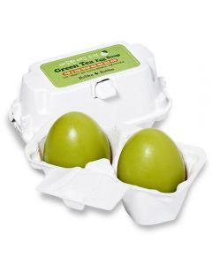 Мыло ручной работы с зеленым чаем  Holika Holika Green Tea Egg Soap