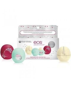 Праздничный набор бальзамов EOS Holiday Limited Edition Decorative Balm Collection