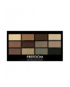 Палетка теней для век Freedom Makeup London Pro 12 Eyeshadow Stunning Smokes