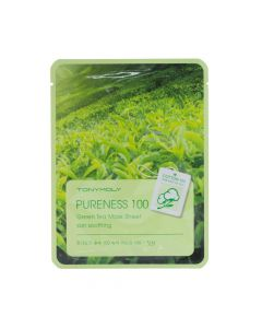 Тканевая маска с экстрактом зеленого чая TONY MOLY Pureness 100 Green Tea Mask Sheet