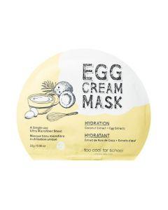 Маска с экстрактом яичного желтка и кокоса Too Cool For School Egg Cream Mask