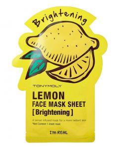 Тканевая маска TONY MOLY I'M REAL LEMON MASK SHEET