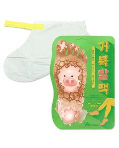 Отшелушивающая маска-носочки для ног Elizavecca Witch Piggy Hell-Pore Turtles Foot Pack