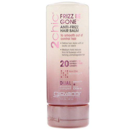 Разглаживающий бальзам для волос Giovanni Frizz Be Gone Hair Balm To Smooth Out Of Control Hair