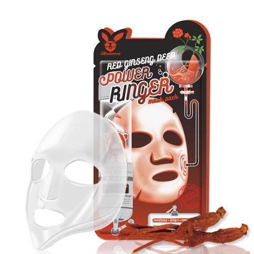 Маска омолаживающая с женьшенем Elizavecca Face Care Red Ginseng Deep Power Ringer Mask Pack