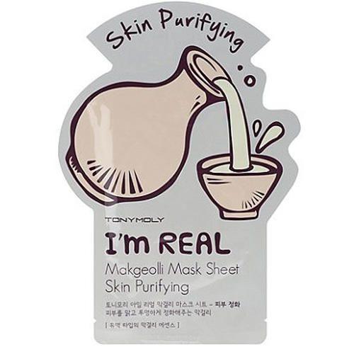 Тканевая маска TONY MOLY I'M REAL MAKGEOLLI MASK SHEET