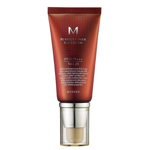 BB крем Missha M Perfect Cover BB Cream Spf42/Pa+++ No.21/Light Beige