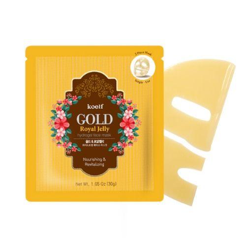 Гидрогелевая маска для лица с золотом KOELF Gold Royal Jelly Hydro Gel Mask