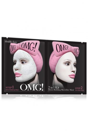 Комплекс масок двухкомпонентный «Детокс» Double Dare OMG! 2IN1 KIT Detox Bubbling Microfiber Mask