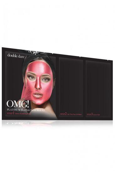 Комплекс масок трехкомпонентный «Сияние и ровный тон» Double Dare OMG! Platinum HOT PINK Facial Mask Kit