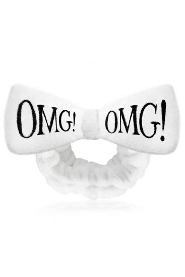 Бант-повязка для фиксации волос Double Dare OMG! Mega Hair Band White