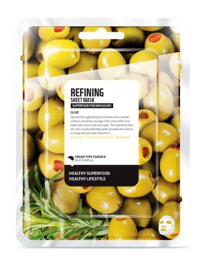 """Тканевая маска """"Олива - Усовершенствование"""" Superfood for Skin Olive Refining Sheet Mask"""