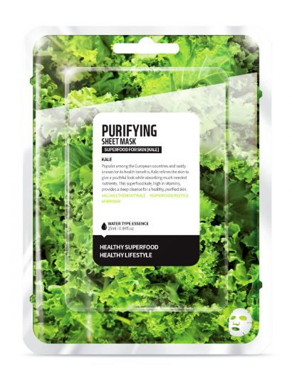 "Тканевая маска ""Капуста кале - Очищение"" Superfood for Skin Kale Purifying Sheet Mask"